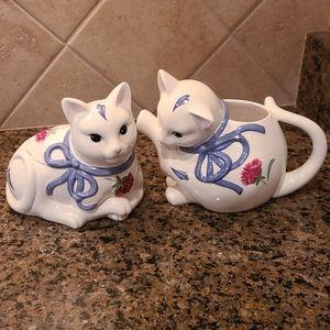 Lenox Poppies on Blue Kitten Set